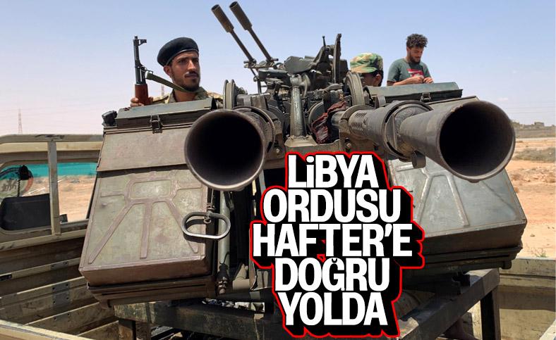 Libya Ordusu, Sirte'nin batısına askeri sevkiyat yapıyor