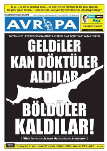 Avrupa gazetesinden küstah manşet #1