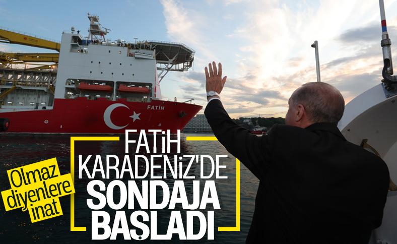 Fatih, Karadeniz'de sondaja başladı