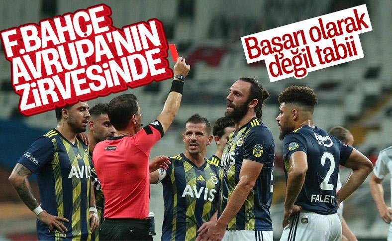 Avrupa'da en çok kart gören takım Fenerbahçe
