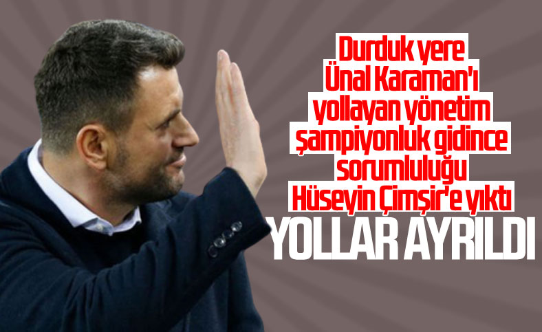 Trabzonspor'da Hüseyin Çimşir dönemi sona erdi