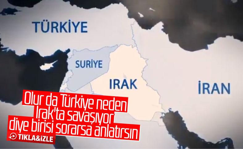 İletişim Başkanlığı paylaştı: Türkiye neden Irak'ta