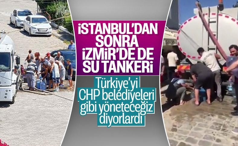 İzmir'de tankerle su taşındı