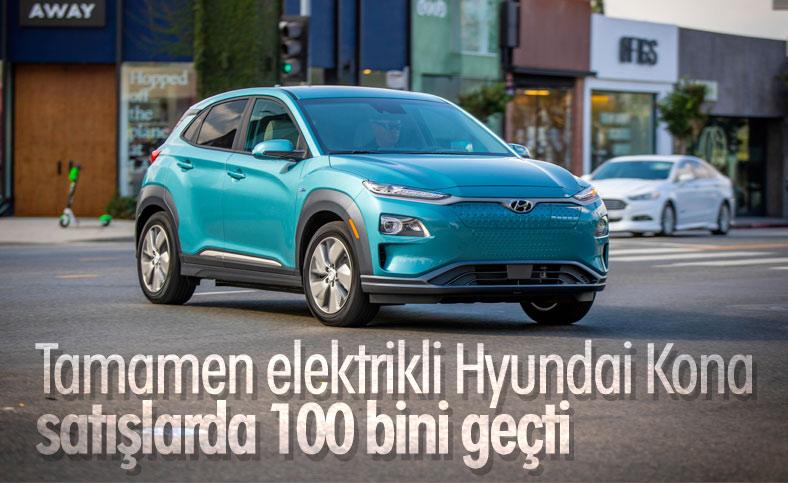 Hyundai'nin elektrikli aracı Kona, 100 bin barajını geçti