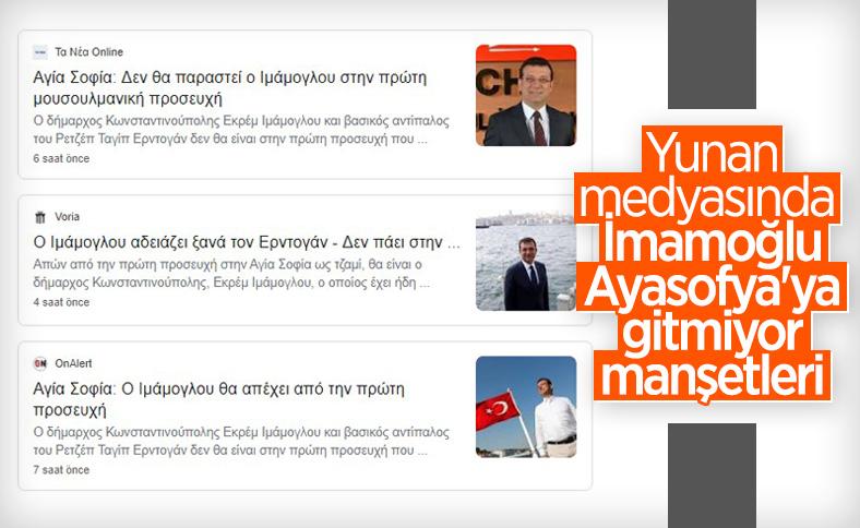 Yunan medyasında gündem Ekrem İmamoğlu