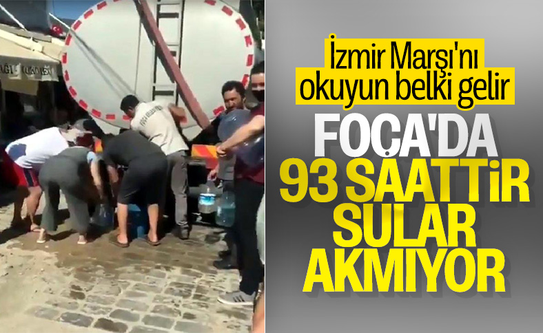 Susuz kalan İzmirliler denizden evlerine su taşıdı