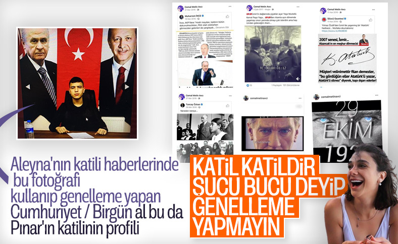 Pınar Gültekin'in katilinin sosyal medya paylaşımları