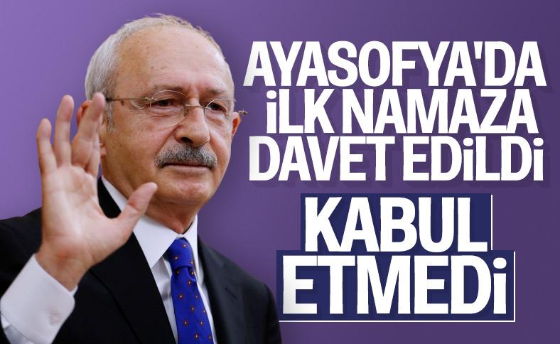 Kemal Kılıçdaroğlu, Ayasofya davetini geri çevirdi