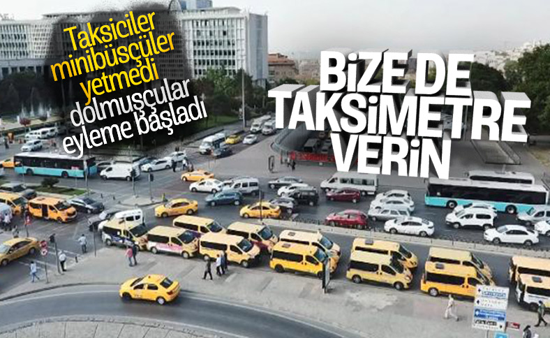 Dolmuşçular: Plakalarımız taksi plakasına çevrilsin
