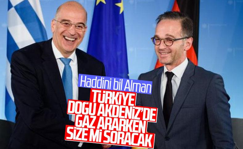 Alman ve Yunan bakanların Doğu Akdeniz açıklamaları