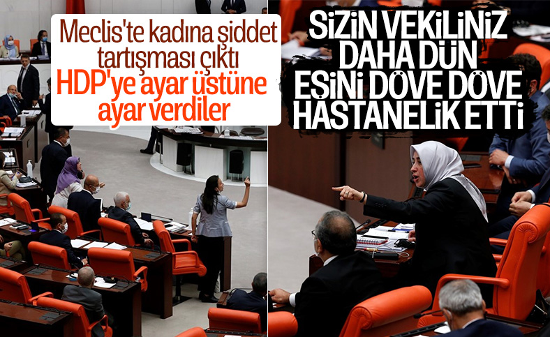 TBMM'de HDP'li ve AK Partili vekiller tarıştı