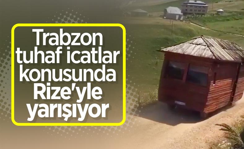 Trabzon'da bir sürücü minibüsünü ahşap eve çevirdi