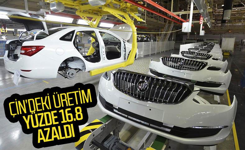 Çin'deki otomobil üretimi ilk 6 ayda sert düştü