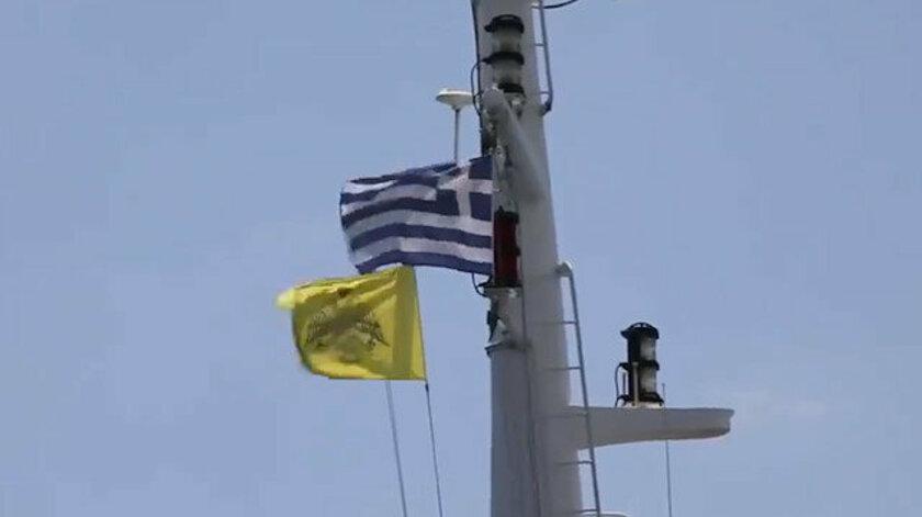 ABD gemisinde Bizans bayrağı çekildi #3