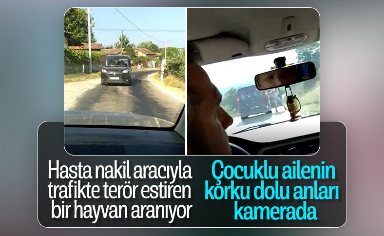 Bursa'da aracın sıkıştırılma anı kamerada