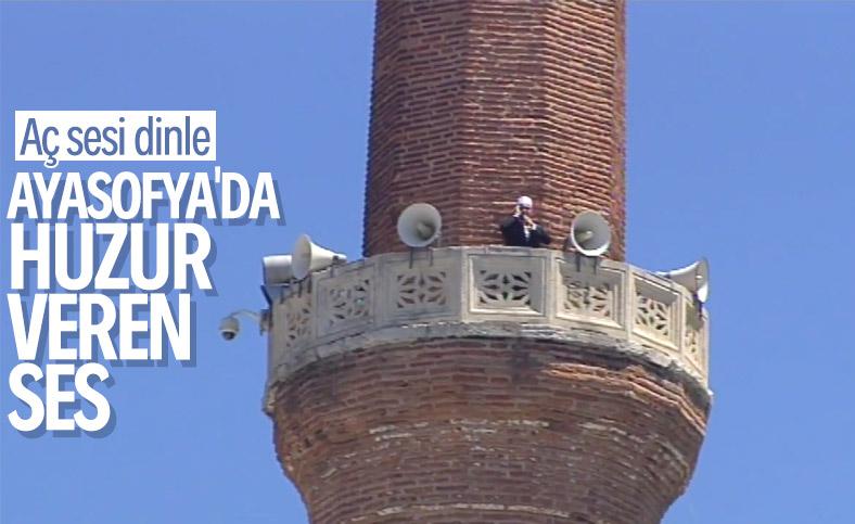 Ayasofya Camii'nden ilk namaz öncesi ezan okundu