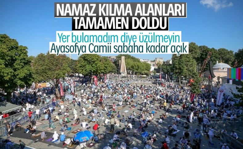 Ayasofya Camii'ne girişler durduruldu