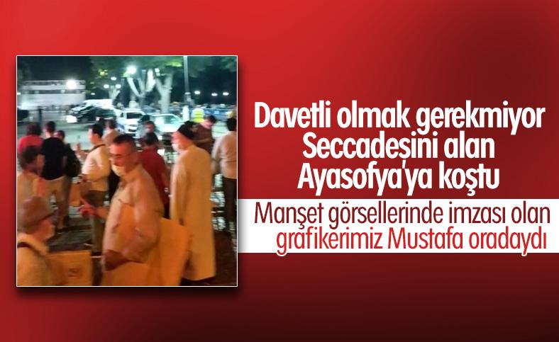 Vatandaşlar Ayasofya'da ilk namaz için toplanmaya başladı