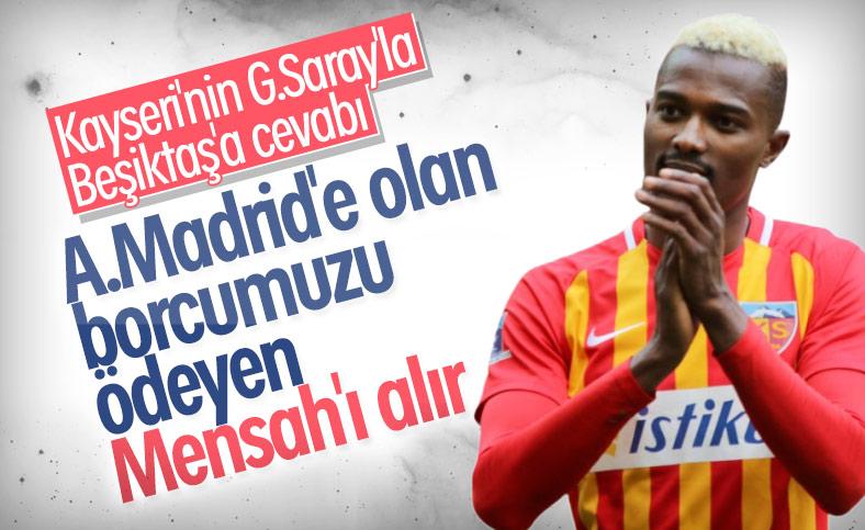 Kayserispor'dan Beşiktaş ve Galatasaray'a Mensah yanıtı