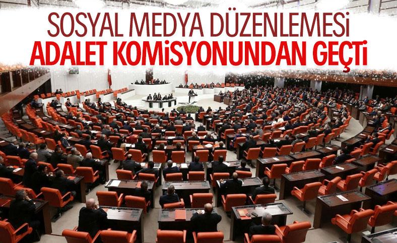 Sosyal medya teklifi Adalet Komisyonu'nda kabul edildi
