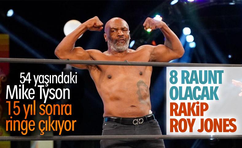 Mike Tyson, 12 Eylül'de ringlere dönüyor