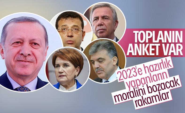 Cumhurbaşkanlığı seçimi anketinde Erdoğan önde