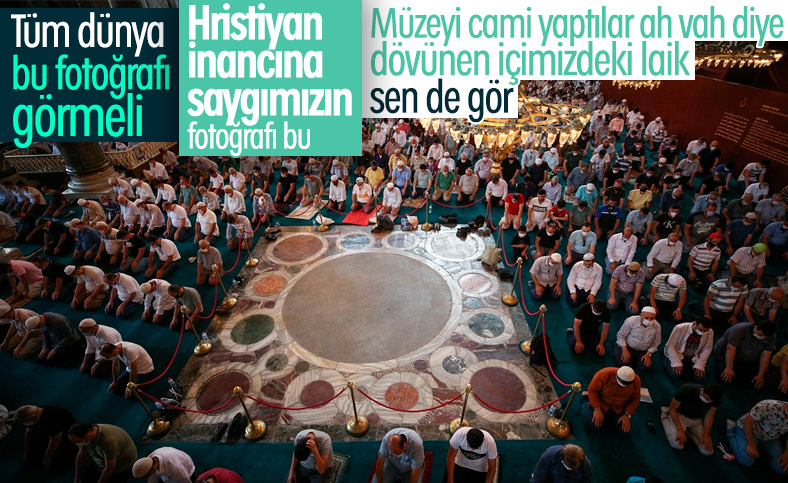 Ayasofya Camii'nde öğle namazı kılındı