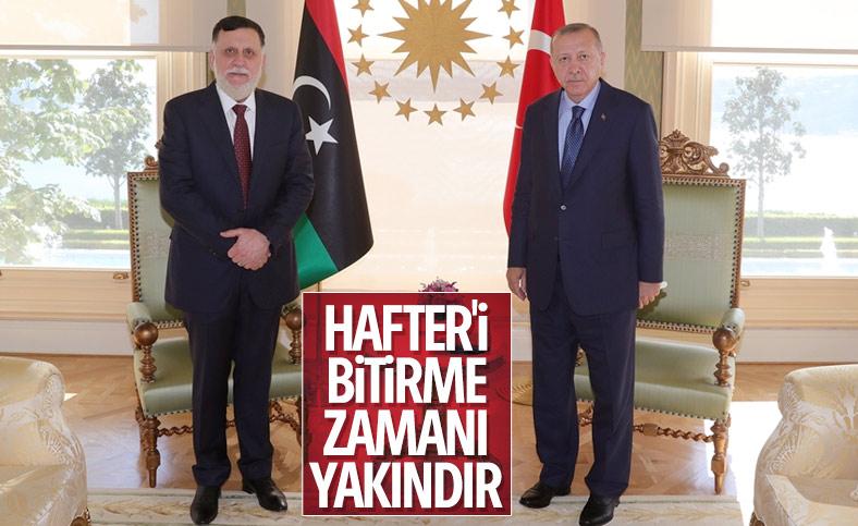 Erdoğan, Libya Başbakanı Serrac'la görüştü