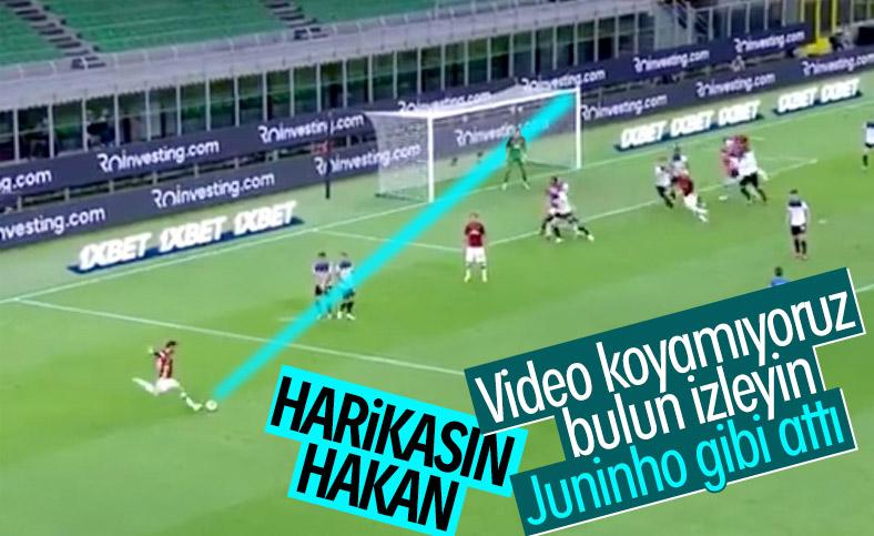Hakan Çalhanoğlu'ndan muhteşem frikik golü
