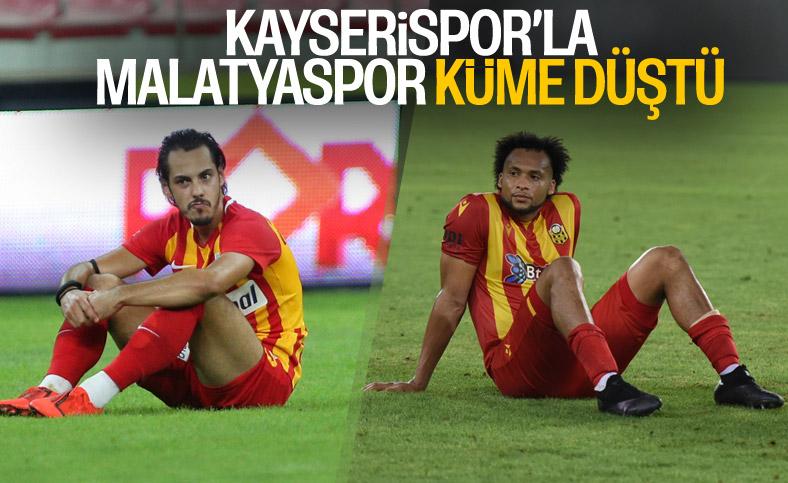 Kayserispor ve Malatyaspor, Süper Lig'e veda etti