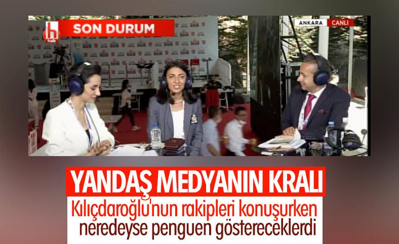 Halk TV'de Kılıçdaroğlu'nun rakipleri görmezden gelindi