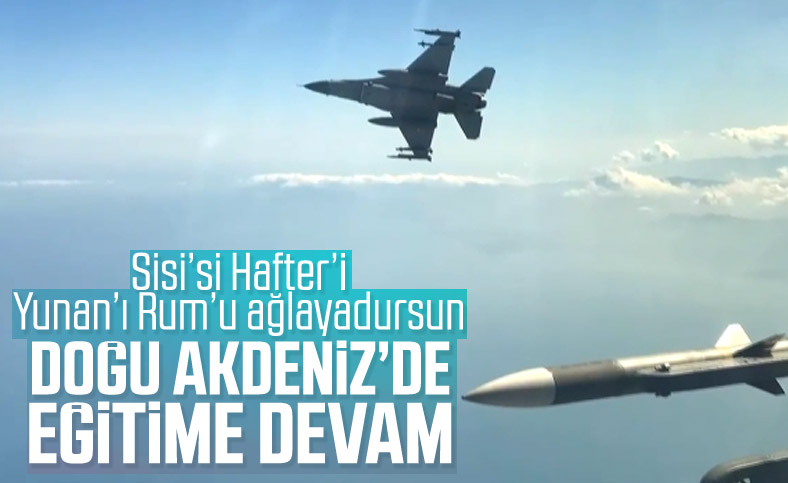 Hava Kuvvetleri'nden Doğu Akdeniz'de eğitim uçuşu