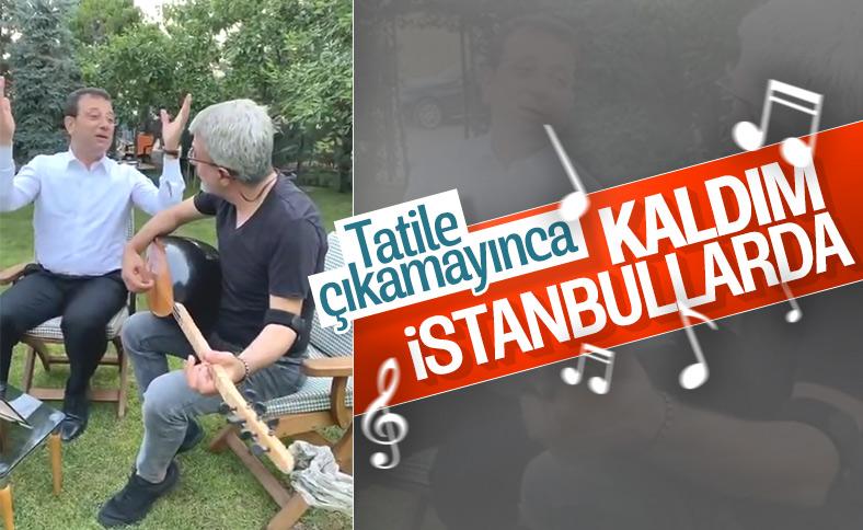 Ekrem İmamoğlu türkü söyledi