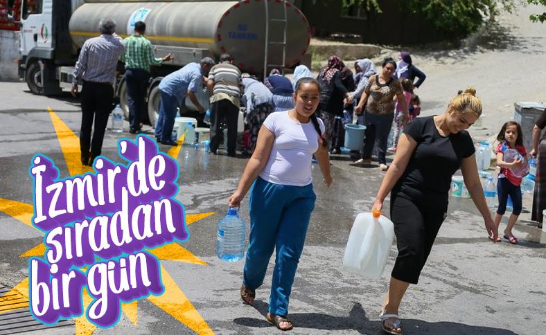 İzmirliler su kesintilerine isyan etti