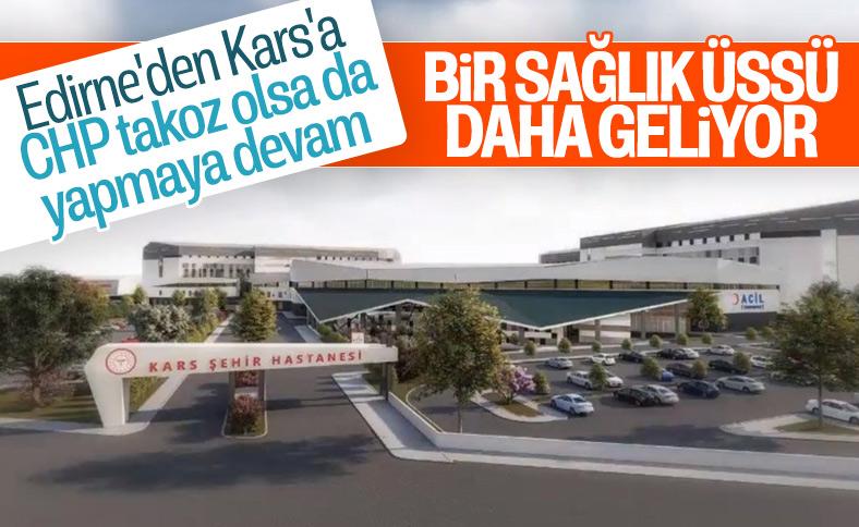 Kars Şehir Hastanesi'nin görselleri paylaşıldı