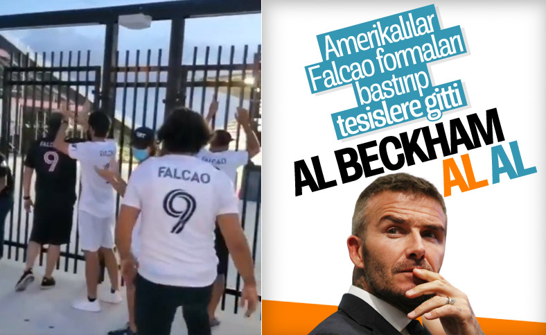 Inter Miami taraftarları Falcao forması bastırdı