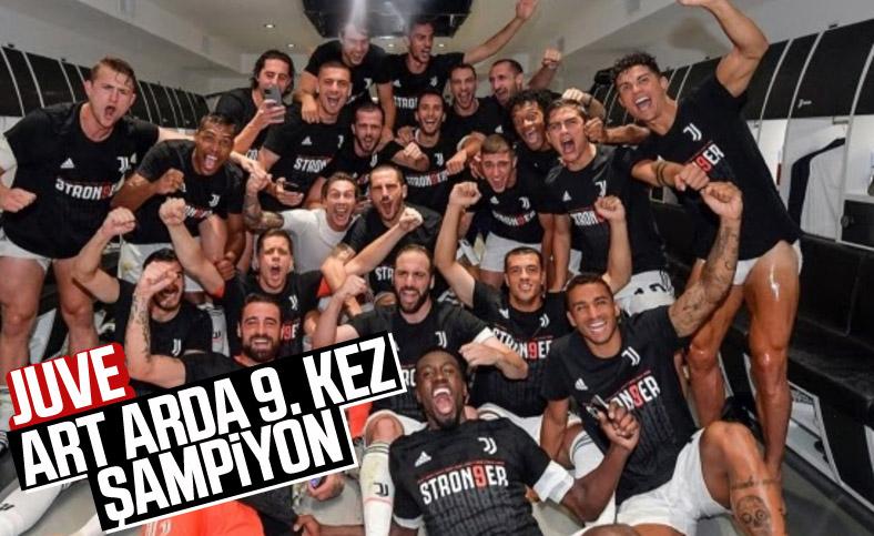 İtalya Serie A'da Juventus, 9. kez şampiyon oldu