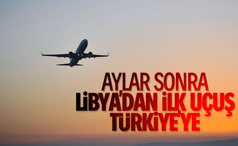 Libya'da askıya alınan uçuşlar, Türkiye seferiyle başladı