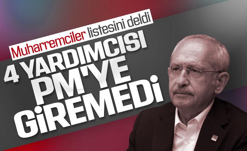Kılıçdaroğlu'nun 4 yardımcısı PM'ye giremedi