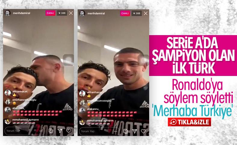 Merih Demiral, Ronaldo'yu Türkçe konuşturdu