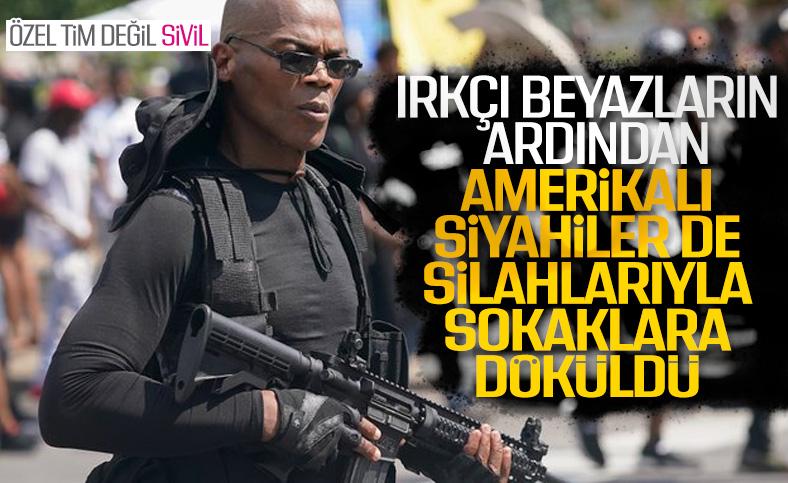 ABD'de silahlı bir grup polis şiddetini protesto etti