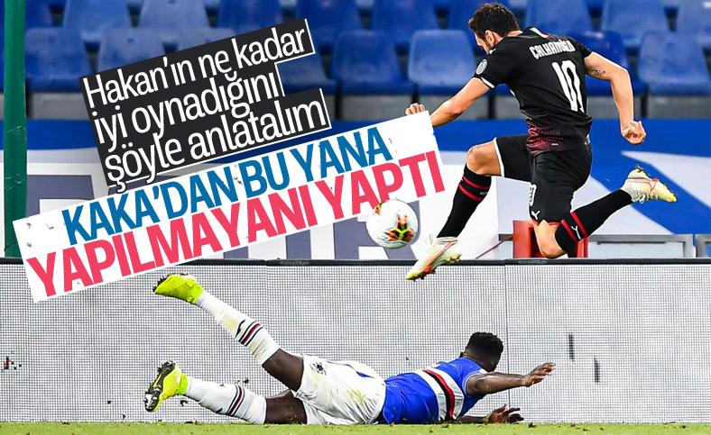 Hakan Çalhanoğlu'nun performansı alkış alıyor