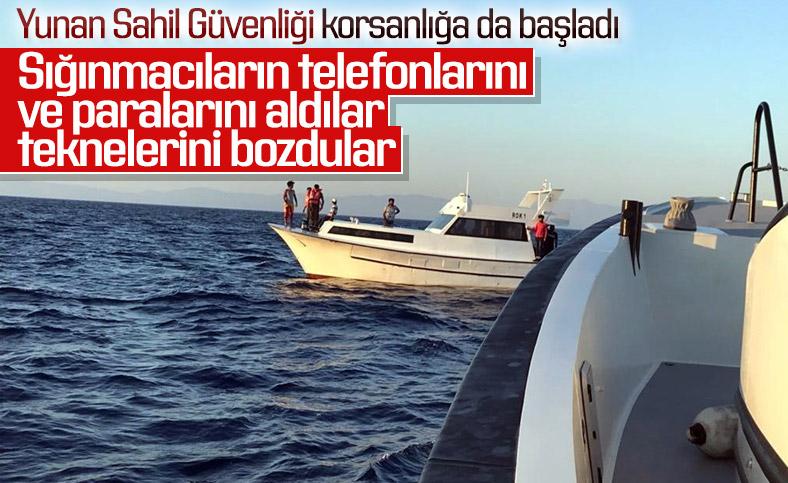 Yunan Sahil Güvenliği, sığınmacıları soyuyor