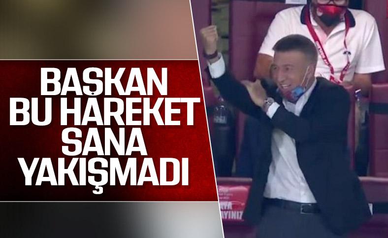 Ahmet Ağaoğlu, gol sevincini abarttı