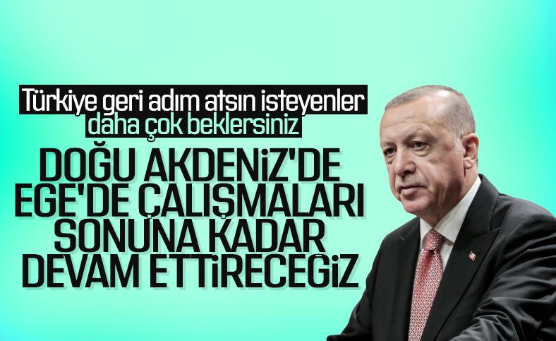 Erdoğan'dan Doğu Akdeniz ve Ege'de kararlılık mesajı