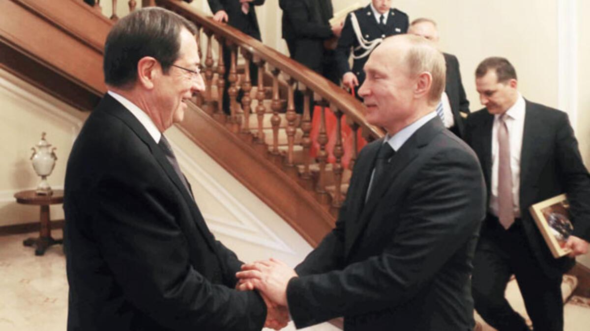 Anastasiadis, Putin'e karşı Türkiye'den yardım istedi # 1