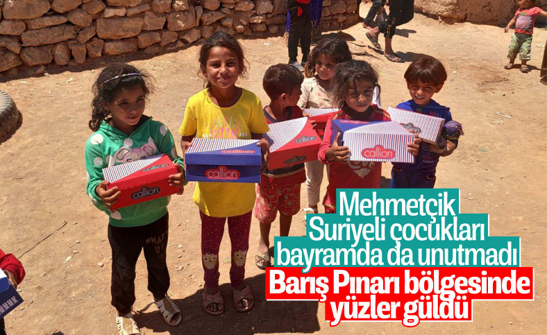 Mehmetçik'ten Suriyeli çocuklara bayram hediyesi