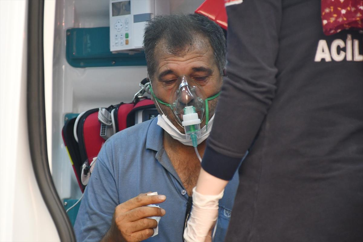 Bir orman yangını Manisa # 7 yerleşim yerlerine ulaştı