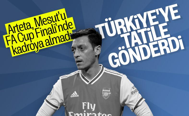 Mesut Özil, FA Cup Finali'nde kadroya alınmadı