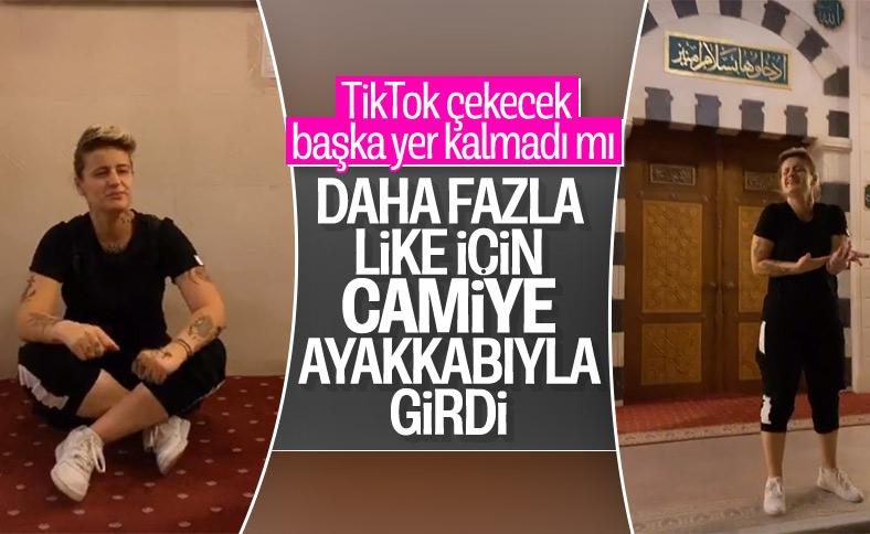 Gaziantep'te camiye ayakkabıyla girip video paylaştı